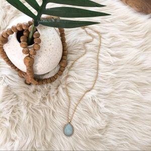 Stella & Dot • Sanibel Reversible Gold Necklace